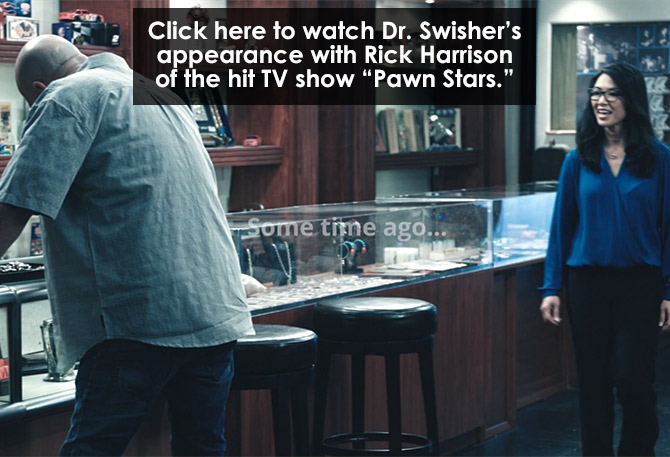 Swisher with Rick Harrison from the hit TV show 'Pawn Stars'